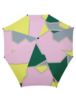 Зонт-автомат senz playing court tracks. Цвет: зеленый, розовый, светло-желтый
