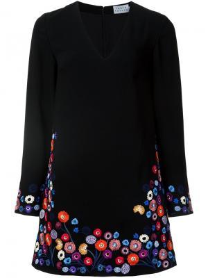 Floral embroidery dress Tanya Taylor. Цвет: чёрный