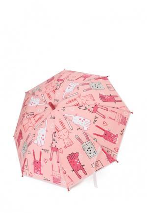 Зонт-трость PlayToday. Цвет: розовый