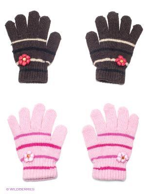 Перчатки 2 пары FOMAS. Цвет: коричневый, розовый