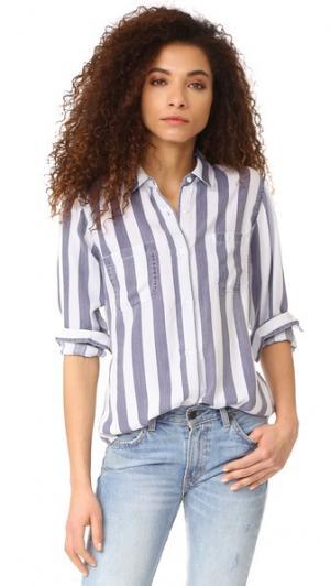 Рубашка с пуговицами Carter в полоску RAILS. Цвет: полоска лиссабон