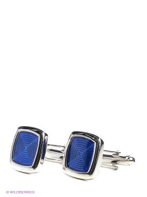 Запонки Квадраты в синем Mitya Veselkov. Цвет: серебристый, синий