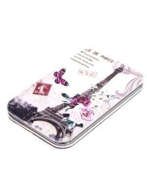 Зеркальце карманное Eleon. Цвет: бежевый, фиолетовый