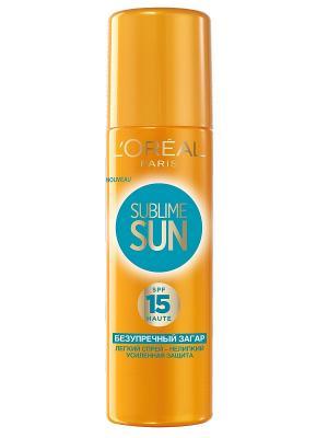 Спрей Sublime Sun,Безупречный загар,солнцезащитный,SPF15,200мл L'Oreal Paris. Цвет: оранжевый
