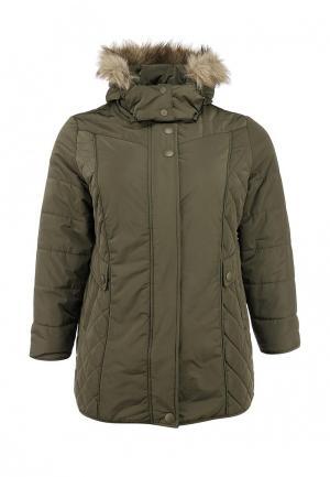 Куртка утепленная Ulla Popken. Цвет: хаки