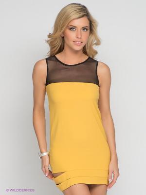 Платье DOCTOR E. Цвет: горчичный, черный