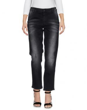 Джинсовые брюки KAOS JEANS. Цвет: черный
