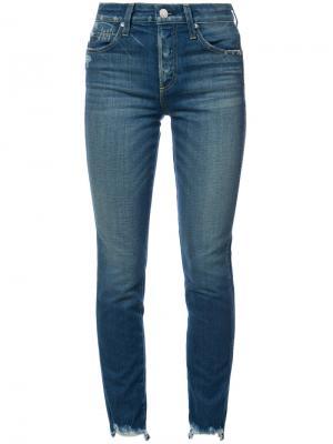 Укороченные джинсы с завышенной талией Amo. Цвет: синий