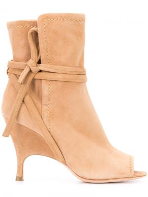 Side tie booties Alchimia Di Ballin. Цвет: телесный