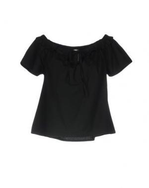 Блузка BSB. Цвет: черный