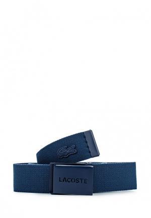 Ремень Lacoste. Цвет: синий