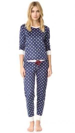 Пижама Polar из флиса PJ Salvage. Цвет: темно-синий