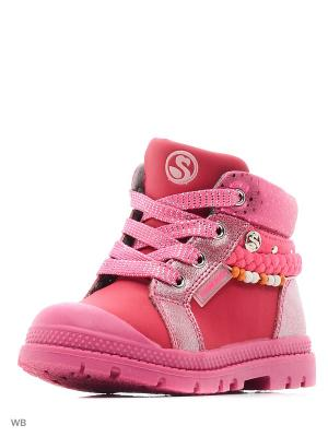 Ботинки Flamingo. Цвет: розовый