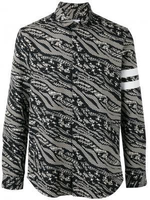 Рубашка с абстрактным принтом Les Benjamins. Цвет: чёрный