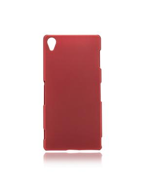Чехол soft-touch пластик для Xperia Z3 Rosco. Цвет: красный