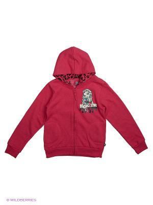 Толстовка Monster High. Цвет: красный, темно-красный
