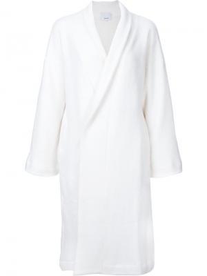 Объемное пальто 08Sircus. Цвет: белый