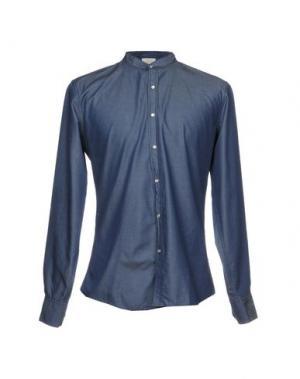 Джинсовая рубашка 26.7 TWENTYSIXSEVEN. Цвет: синий