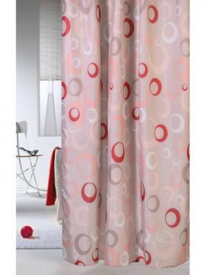 Штора для ванной комнаты 178х180см. Фантазия розовая NIKLEN. Цвет: розовый