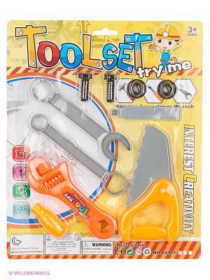 Набор инструментов на листе 2 вида. teeboo. Цвет: оранжевый