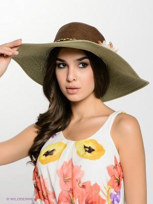 Шляпа FOMAS. Цвет: оливковый, коричневый