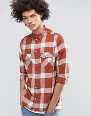 Weekday Рубашка в клетку. Цвет: темно-синий