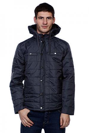 Куртка зимняя  Trajectorey Charcoal Matix. Цвет: синий