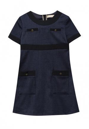 Платье Смена. Цвет: синий