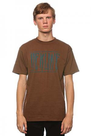 Футболка  Strech Coffee Dekline. Цвет: коричневый