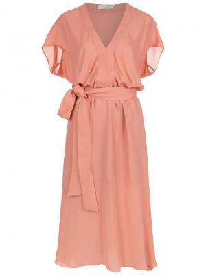 Silk dress Giuliana Romanno. Цвет: розовый и фиолетовый