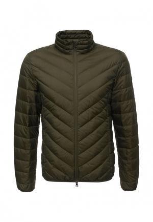 Куртка утепленная EA7. Цвет: хаки