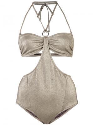 Bobbi bikini set Morgan Lane. Цвет: металлический