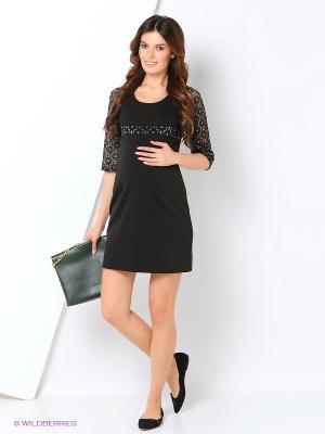 Платье Hunny Mammy. Цвет: черный, антрацитовый