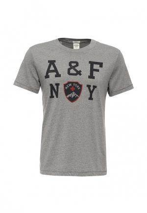 Футболка Abercrombie & Fitch. Цвет: серый