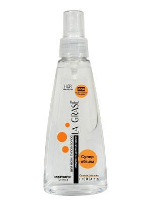 La Grase жидкость д/укл. волос Супер объем 150мл. Цвет: серый
