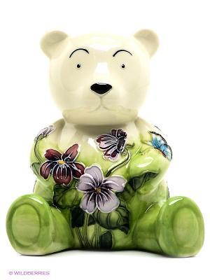 Копилка Мишка Pavone. Цвет: зеленый
