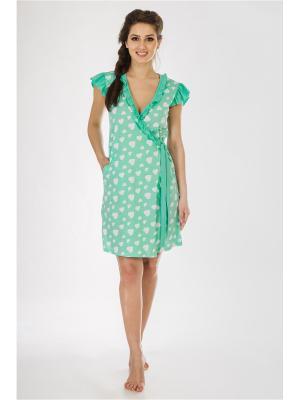Халаты банные Pastilla. Цвет: светло-зеленый