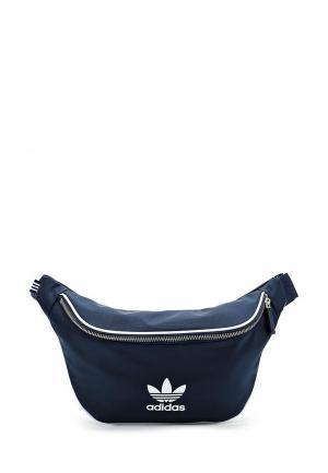 Сумка поясная adidas Originals. Цвет: синий