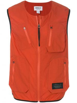 Жилет NMD Utility Adidas. Цвет: жёлтый и оранжевый