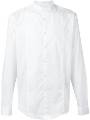 Рубашка с воротником-стойкой John Varvatos. Цвет: белый