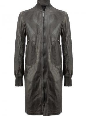 Пальто на молнии Isaac Sellam Experience. Цвет: серый