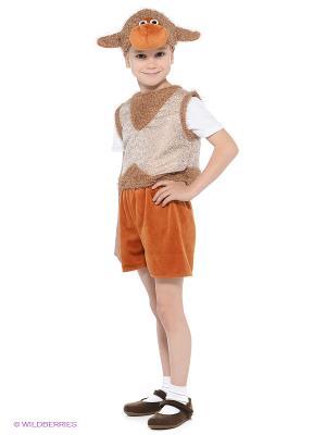 Карнавальный костюм Овенчик Бяшка Батик. Цвет: коричневый