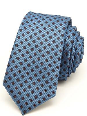 Галстук Angelo Bonetti. Цвет: серо-голубой, голубой