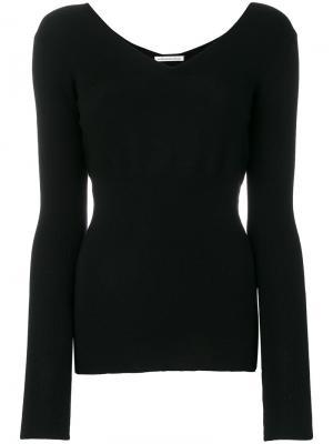 Пуловер с V-образной горловиной Stefano Mortari. Цвет: чёрный