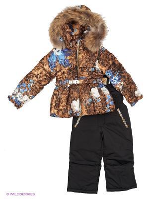 Комплект одежды RadRada. Цвет: бежевый, черный