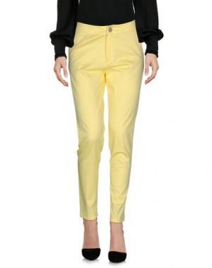 Повседневные брюки MAISON ESPIN. Цвет: желтый