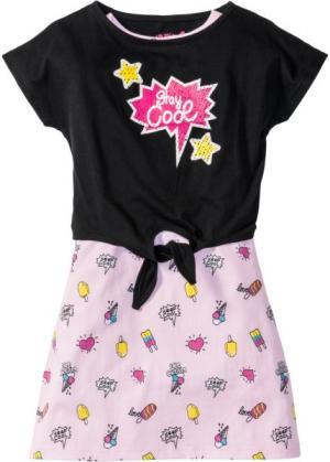 Платье и футболка (2 изд.) (нежно-розовый с рисунком) bonprix. Цвет: нежно-розовый с рисунком
