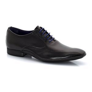 Ботинки-дерби серии Richelieu, из кожи, со шнуровкой AZZARO. Цвет: черный