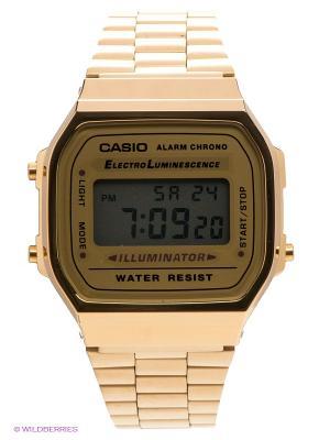 Часы Casio A-168WG-9. Цвет: золотистый