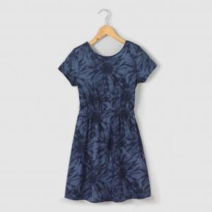 Платье с принтом, 100% хлопка, 10-16 лет R édition. Цвет: набивной рисунок